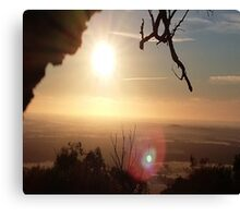Sunrise Over the Hill Canvas Print