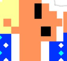 8-Bit WOO Man Sticker