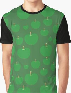vector seamless pattern with green apples Graphic T-Shirt