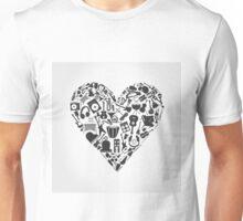 Musical heart3 Unisex T-Shirt