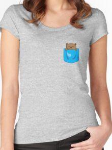 The Sleepiest sleepy bear Women's Fitted Scoop T-Shirt