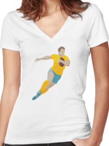 SUMMER GAMES / Rugby Women's Fitted V-Neck T-Shirt