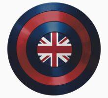 CAPTAIN BRITAIN - Captain America inspired British shield Kids Tee
