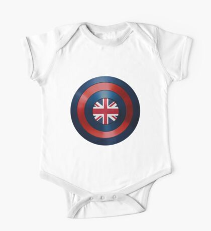 CAPTAIN BRITAIN - Captain America inspired British shield One Piece - Short Sleeve