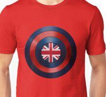 CAPTAIN BRITAIN - Captain America inspired British shield Unisex T-Shirt
