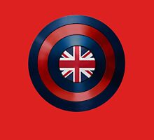 CAPTAIN BRITAIN - Captain America inspired British shield Unisex T-Shirt