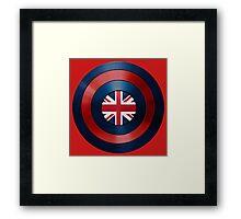 CAPTAIN BRITAIN - Captain America inspired British shield Framed Print
