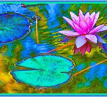 Lily Pad Lotus Blossom by AntiqueImages