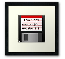 Old school floppy disk memories Framed Print