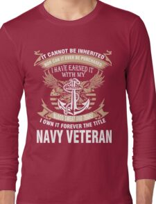 Veteran T-Shirts & Shirts : Forever The Title Navy Veteran Long Sleeve T-Shirt