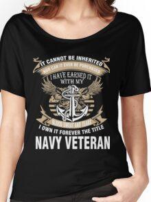 Veteran T-Shirts & Shirts : Forever The Title Navy Veteran Women's Relaxed Fit T-Shirt