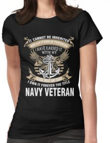 Veteran T-Shirts & Shirts : Forever The Title Navy Veteran Womens Fitted T-Shirt