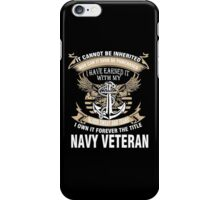 Veteran T-Shirts & Shirts : Forever The Title Navy Veteran iPhone Case/Skin