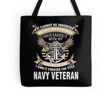 Veteran T-Shirts & Shirts : Forever The Title Navy Veteran Tote Bag