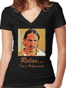 Relax I'm a Professional Women's Fitted V-Neck T-Shirt