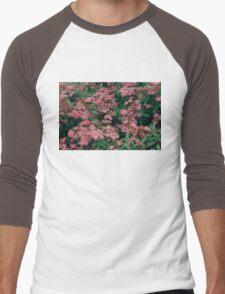 pink flowers Men's Baseball ¾ T-Shirt