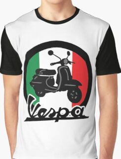 Vespa Italy Scooter Graphic T-Shirt