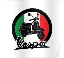 Vespa Italy Scooter Poster