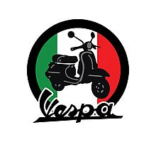 Vespa Italy Scooter Photographic Print