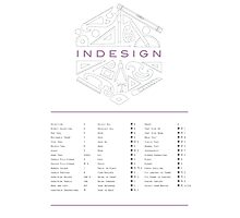 Keyboard Shortcuts for Adobe InDesign Photographic Print