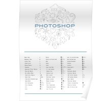 Keyboard Shortcuts for Adobe Photoshop Poster