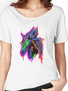 Psychedelic Horse Women's Relaxed Fit T-Shirt