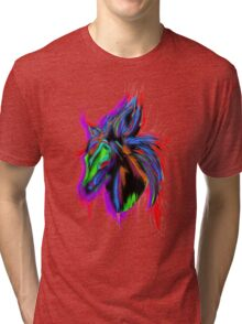 Psychedelic Horse Tri-blend T-Shirt
