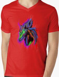 Psychedelic Horse Mens V-Neck T-Shirt