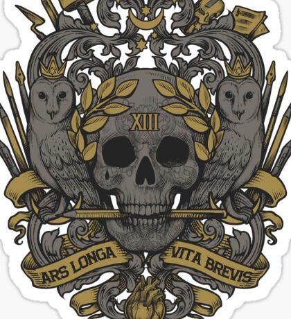 ARS LONGA, VITA BREVIS Sticker