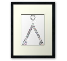Earth Symbol Framed Print