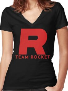 Pokemon Team Rocket Women's Fitted V-Neck T-Shirt