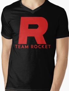Pokemon Team Rocket Mens V-Neck T-Shirt