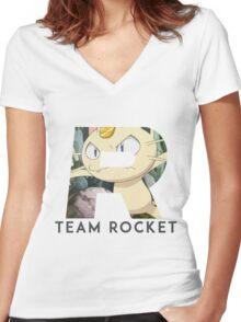 Pokemon Team Rocket Women's Fitted V-Neck T-Shirt