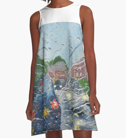 Rainy Day In Bolton A-Line Dress