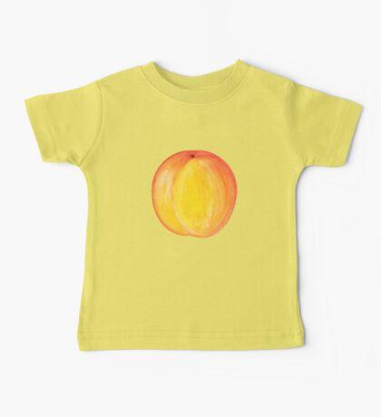 Peach  ~ Watercolor Fruit Painting Baby Tee