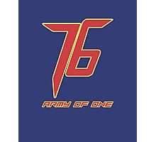 Soldier 76 Army Of One Photographic Print