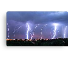 Thunders // Sky Painting Canvas Print