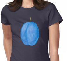 Plum ~ Watercolor Fruit Painting Womens Fitted T-Shirt