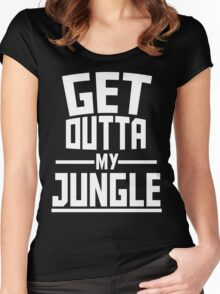 Get Outta My Jungle v2 Women's Fitted Scoop T-Shirt