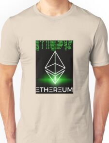 Ethereum logo symbol green coding Unisex T-Shirt