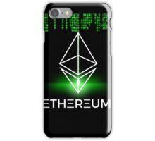 Ethereum logo symbol green coding iPhone Case/Skin