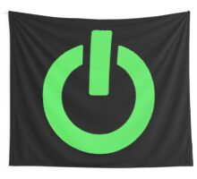 Power Button (green) Wall Tapestry