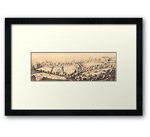 Park Crescent, Broomhall, Sheffield, 1868 Framed Print