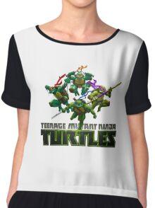 Teenage Mutant Ninja Turtles Cartoon Chiffon Top