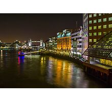 Thames at Night Photographic Print