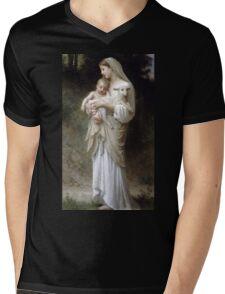 Innocence by William Bouguereau Mens V-Neck T-Shirt