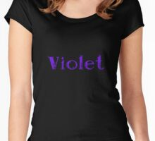 Violet Women's Fitted Scoop T-Shirt