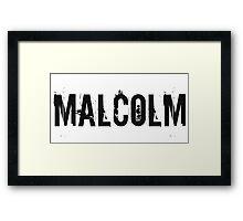 Malcolm Framed Print