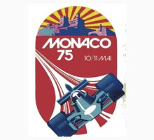 """MONACO GRAND PRIX"" Vintage Auto Racing Advertising Print Kids Tee"