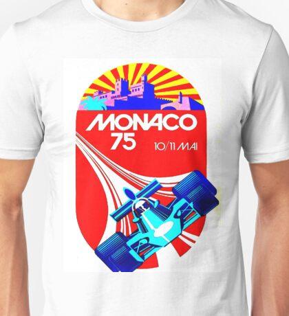 """MONACO GRAND PRIX"" Vintage Auto Racing Advertising Print Unisex T-Shirt"